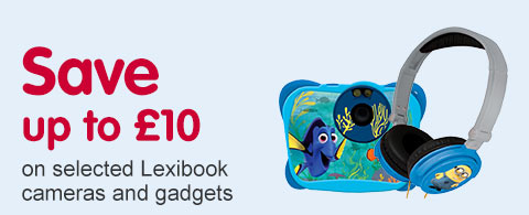 Save up to £10 on selected Lexibook cameras and gadgets
