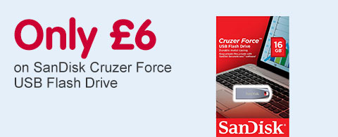 Only £6 on SanDisk Cruzer Force USB Flash Drive