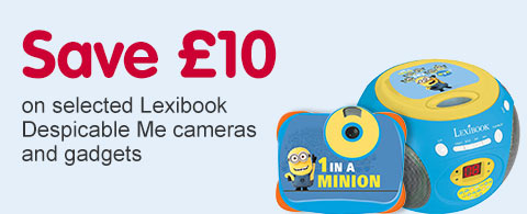 Save £10 on selected Lexibook Despicable Me cameras and gadgets