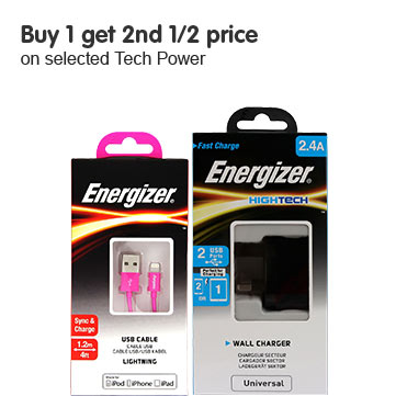 Buy 1 get 1 free on selected Tech Power