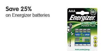 Save 25% on energizer batteries