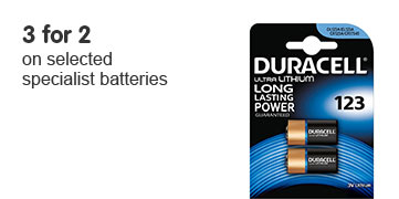 3 for 2 on selected specialist batteries