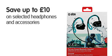 Save up to £10 on selected headphones and accessories