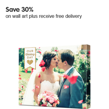 Save 30% on wall art plus receive free delivery