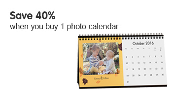 Save 40% when you buy 1 photo calendar