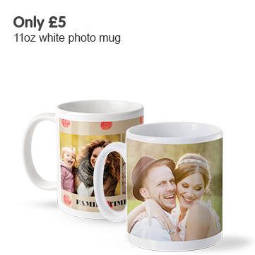Only £5 on 11oz photo mug