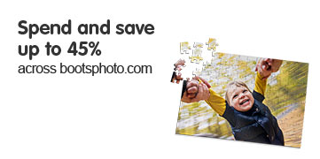 Spend and save 45% across boots photo.com