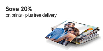 Save 20% on prints - plus receive free delivery