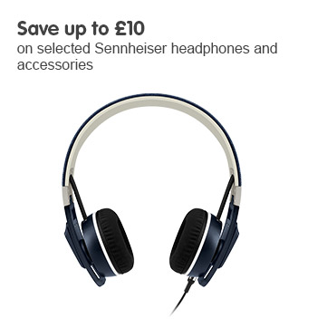 Save up £10 on selected Sennheiser headphones and accessories