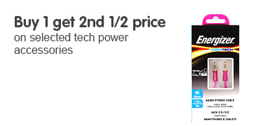 Buy 1 get 2nd 1/2 price on selected tech power accessories