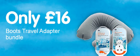 Only £16 Boots travel adapter bundle