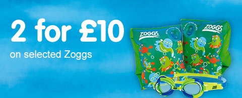 2 for £10 on seleted Zoggs