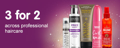 3 for 2 on selected Professional Haircare