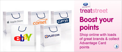 Treat Street - Boost your Advantage Card points